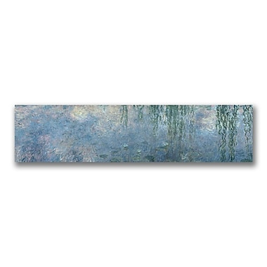 Trademark Fine Art Claude Monet 'Waterlillies Morning' Canvas Art 10x32 Inches