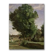 Trademark Fine Art Jean Baptiste Corot 'Outskirts of a village' Canvas