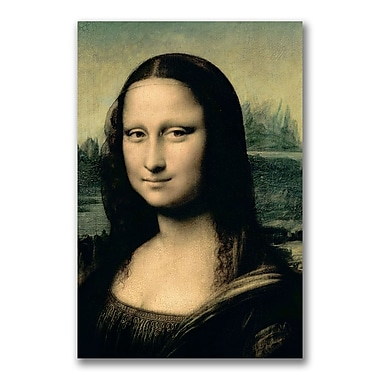 Trademark Fine Art Leonardo da Vinci 'Detail of the Mona Lisa' Canvas Art