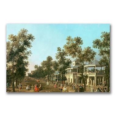 Trademark Fine Art Canatello 'Vauxhall Gardens-Grand Walk' Canvas Art