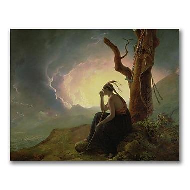 Trademark Fine Art Joseph Wright of Derby 'Widow of an Indian Chief'Canvas Art