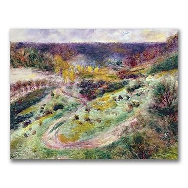 Trademark Fine Art Pierre Renoir 'Landscape at Wargemont' Canvas Art 18x24 Inches