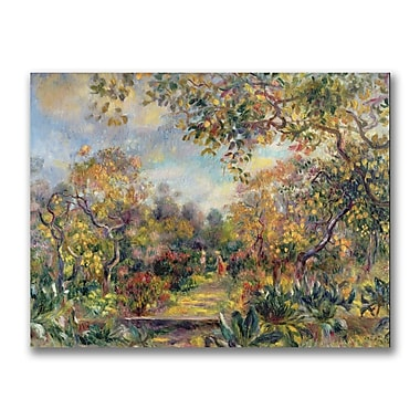 Trademark Fine Art Pierre Renoir 'Landscape at Beaulieu' Canvas Art 35x47 Inches