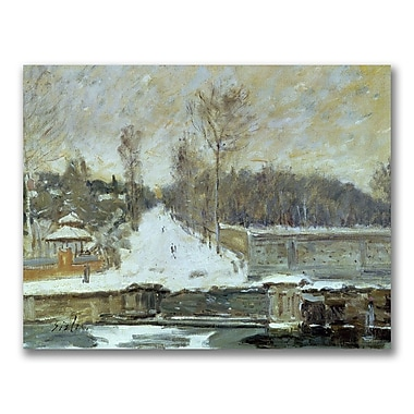 Trademark Fine Art Alfred Sisley 'The Watering Place' Canvas Art