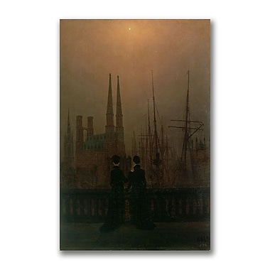 Trademark Fine Art Caspar David Friedrich 'Harbor at Night' Canvas Art