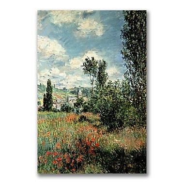 Trademark Fine Art Claude Monet 'Path through the Poppies' Canvas Art