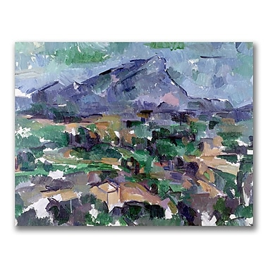 Trademark Fine Art Paul Cezanne 'Montagne Saint-Victoire' Canvas Art 35x47 Inches