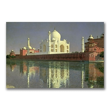 Trademark Fine Art Vasili Vereschagin 'The Taj Mahal 1874-76' Canvas Art