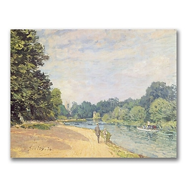 Trademark Fine Art Alfred Sisley 'The Thames with Hampton Church' Canvas Art