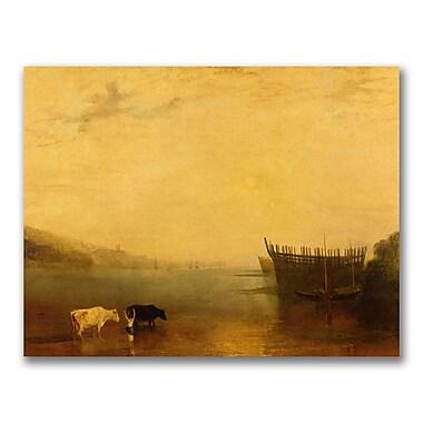 Trademark Fine Art Joseph Turner 'Teignmouth Harbour' Canvas Art
