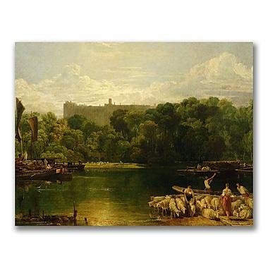 Trademark Fine Art Joseph Turner 'Windsor Castle from the Thames' Canvas Art