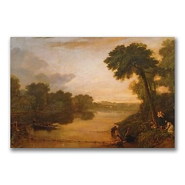 Trademark Fine Art Joseph Turner 'The Thames near Windsor' Canvas Art