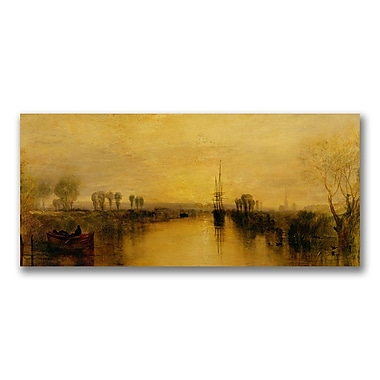 Trademark Fine Art Joseph Turner 'Chichester Canal.1829' Canvas Art 24x47 Inches