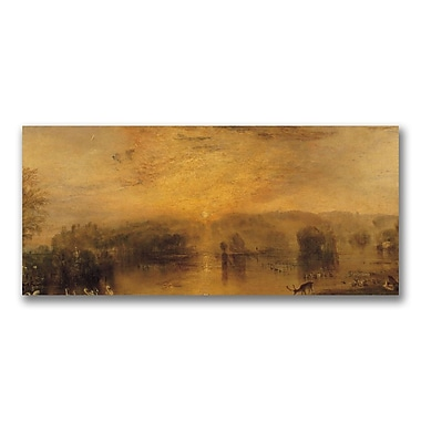 Trademark Fine Art Joseph Turner 'The Lake, Petworth, Sunset' Canvas Art 16x32 Inches