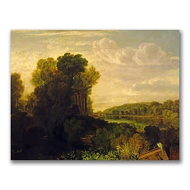 Trademark Fine Art Joseph Turner 'The Thames at Weybridge' Canvas Art