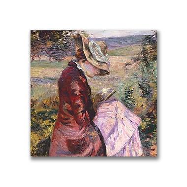 Trademark Fine Art Jean Baptiste Guillamin 'Madame Reading 1887' Canvas Art