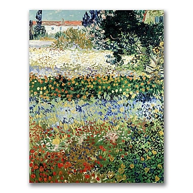 Trademark Fine Art Vincent Van Gogh 'Garden in Bloom' Canvas Art