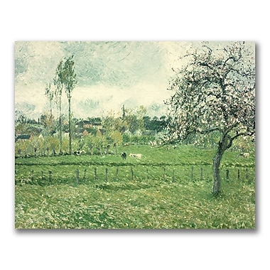Trademark Fine Art Camille Pissaro, 'Meadow at Eragny, 1885' Canvas Art