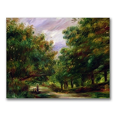 Trademark Fine Art Pierre Renoir 'The Road near Cagnes' Canvas Art 35x47 Inches