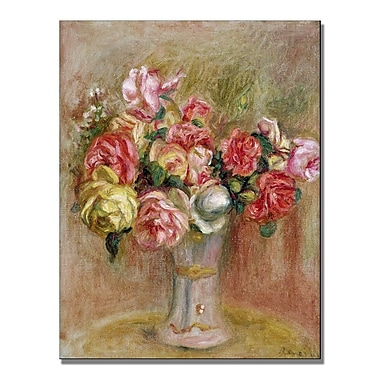 Trademark Fine Art Pierre Renoir 'Roses in a Sevres vase' Canvas Art 18x24 Inches
