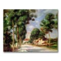 Trademark Fine Art Pierre Renoir 'The Road to Essoyes' Canvas Art