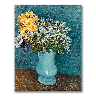 Trademark Fine Art Vincent Van Gogh 'Vase of Flowers' Canvas Art