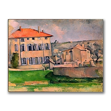 Trademark Fine Art Paul Cezanne 'Jas de Bouffan' Canvas Art 18x24 Inches