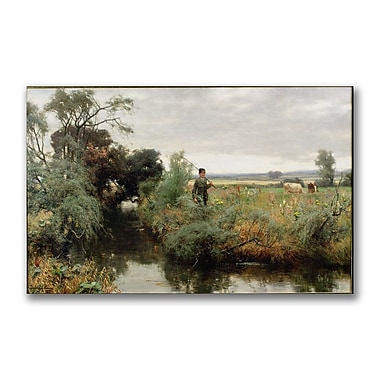 Trademark Fine Art David Faraquharson 'Off Fishing' Canvas Art 18x32 Inches
