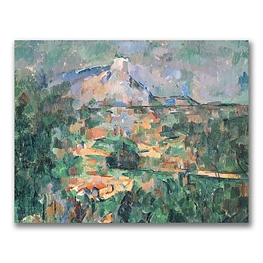 Trademark Fine Art Paul Cezanne 'Montagne Sainte-Victoire' Canvas Art 26x32 Inches