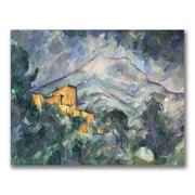 Trademark Fine Art Paul Cezanne 'Montagne Saint-Victoire Black' Canvas Art 35x47 Inches