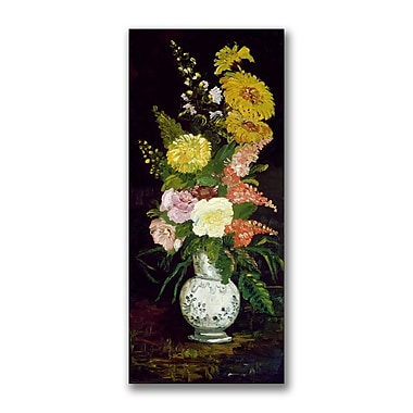 Trademark Fine Art Paul Cezanne 'Vase of Flowers' Canvas Art 16x32 Inches