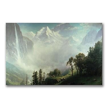 Trademark Fine Art Albert Biersdant 'Majesty of the Mountains' Canvas Art