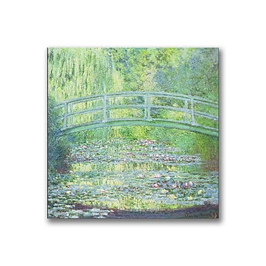 Trademark Fine Art Claude Monet 'Waterlily Pond-The Bridge II' Canvas Art