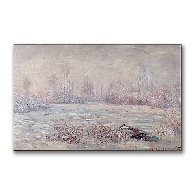 Trademark Fine Art Claude Monet 'Frost near Vetheuil' Canvas Art 14x24 Inches