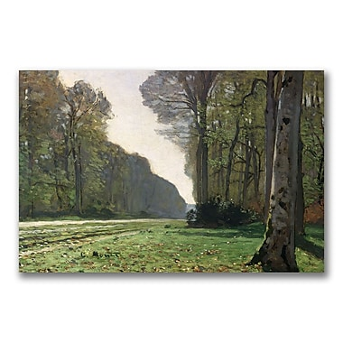 Trademark Fine Art Claude Monet 'The Road to Bas Breau' Canvas Art