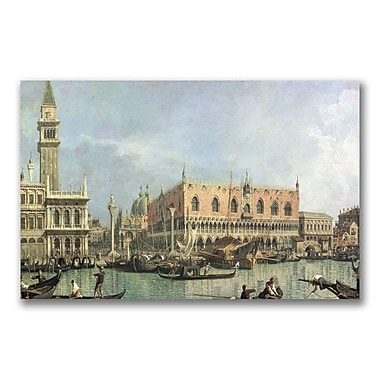 Trademark Fine Art Canatello 'The Molo and the Piazzetta' Canvas Art 14x24 Inches