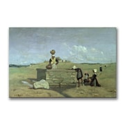 Trademark Fine Art Jean Baptiste Corot 'Brenton Woman at the Well' Canvas 16x24 Inches