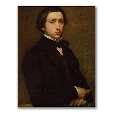 Trademark Fine Art Edgar Degas 'Self Portrait' Canvas Art