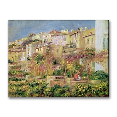 Trademark Fine Art Pierre Renoir 'Terrace in Cagnes' Canvas Art 35x47 Inches