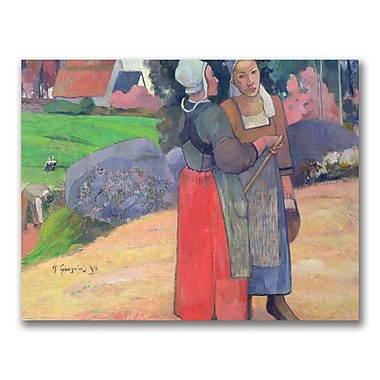 Trademark Fine Art Paul Gauguin 'Brenton Peasants 1894' Canvas Art 35x47 Inches