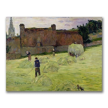 Trademark Fine Art Paul Gauguin 'Haymaking in Brittany' Canvas Art 18x24 Inches