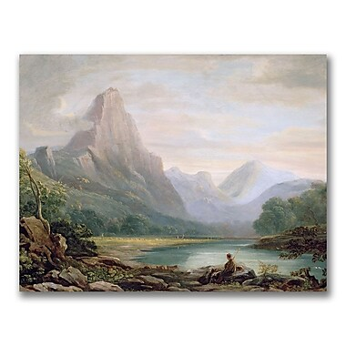 Trademark Fine Art John Varley 'A Welsh Valley' Canvas Art