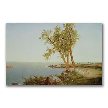 Trademark Fine Art John Kensett 'Rhode Island Coast' Canvas Art 14x24 Inches
