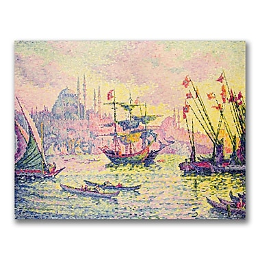 Trademark Fine Art Paul Signac 'View of Constantinople' Canvas Art 35x47 Inches