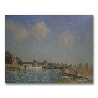 Trademark Fine Art Alfred Sisley 'The Loing at Saint-Mammes' Canvas Art 26x32 Inches