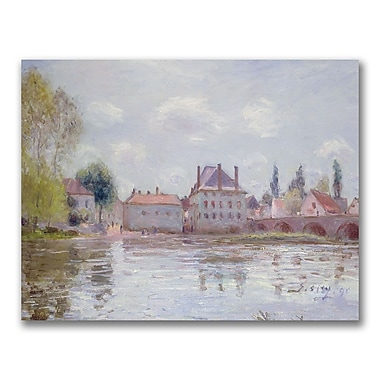 Trademark Fine Art Alfred Sisley 'The Bridge at Moret-sur-Loing' Canvas Art