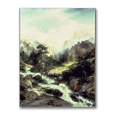 Trademark Fine Art Thomas Moran 'In the Tetron Range' Canvas Art
