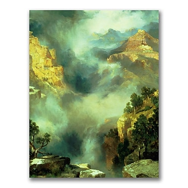 Trademark Fine Art Thomas Moran 'Mist in the Canyon' Canvas Art