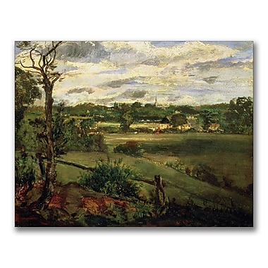 Trademark Fine Art John Constable 'View of Highgate from Hampstead' Canvas Art 18x24 Inches