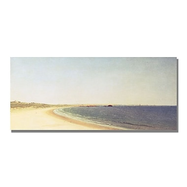Trademark Fine Art John Kensett 'Near Newport 19th century' Canvas Art 10x24 Inches
